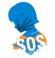 SOS Violence against children vector image vector image