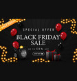 special offer black friday sale up to 50 off vector image