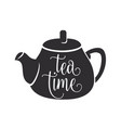 tea time with graphic black vector image