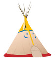 tipi - native american vector image vector image