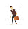 tired office worker flat character design sad vector image