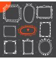 Vintage photo frames Set of hand drawn design vector image vector image