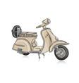 vintage scooter sketch for your design vector image