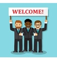 Welcome to our business team vector image