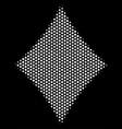 white pixelated diamonds suit icon vector image