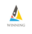 Winning man symbols vector image