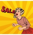 Woman Shouting Sale Big Sale Poster Pop Art vector image