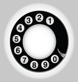 phone number in circle old telephon vector image