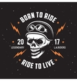Vintage motorcycle t-shirt graphics vector image