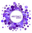 abstract background for design circles frames vector image vector image