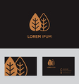 Abstract logo icon design business card template vector image vector image