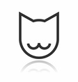 Animal Portrait Line Icon Cat vector image