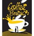 art coffee break vector image vector image