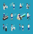 augmented reality isometric set vector image vector image