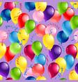 balloons seamles card vector image