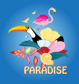 bird paradise and plants vector image vector image