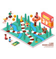 board game isometric composition vector image vector image