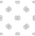 brain solution pattern seamless vector image vector image