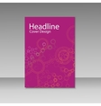 Brochure cover with abstract connect patterns vector image vector image