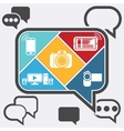 Bubble chatting infographic with icons mobile vector image vector image