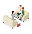 business meeting with clients isometric 3d icon vector image vector image