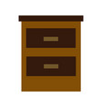 cabinet drawers handle wooden office organization vector image vector image