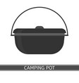 camping pot icon vector image vector image