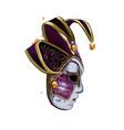carnival venetian mask from a splash watercolor vector image