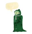 cartoon spooky halloween costume with speech vector image vector image