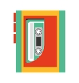 cassette music retro icon vector image vector image