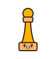 chess game piece cute kawaii cartoon vector image vector image