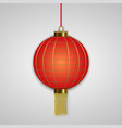 chinese hanging red lanterns vector image