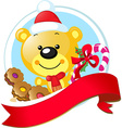 christmas design with cute bear vector image vector image