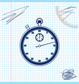 classic stopwatch line sketch icon isolated on vector image vector image