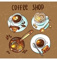 coffee for your design vector image vector image