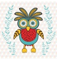 Cute spring owl vector image