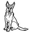 dog and puppy coloring page vector image vector image