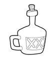 drink icon outline vector image vector image