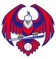 eagle baseball mascot vector image vector image
