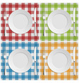 Empty plate with fork and knife at classic vector image vector image