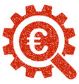 euro search options icon grunge watermark vector image vector image