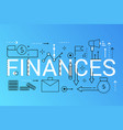 finance 2019 word trendy composition concept vector image vector image
