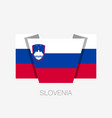 flag of slovenia flat icon waving flag with vector image vector image