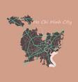flat ho chi minh city administrative map vector image vector image