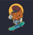 flies skateboard vector image