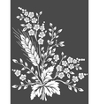 floral design element for page decoration vector image vector image