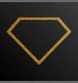 frame gold golden sequin diamond vector image