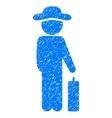 Gentleman Baggage Grainy Texture Icon vector image vector image