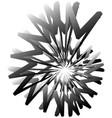 geometric circular spiral abstract angular edgy vector image vector image
