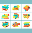 great deal banners for seasonal clearance sale vector image vector image
